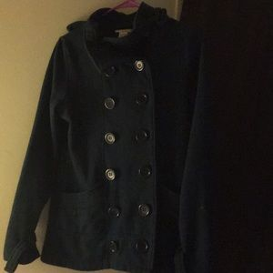 Hooded pea coat size med